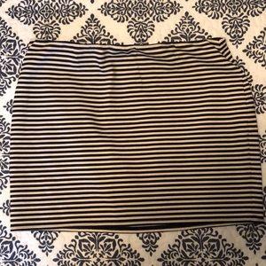 Stripped LOFT skirt